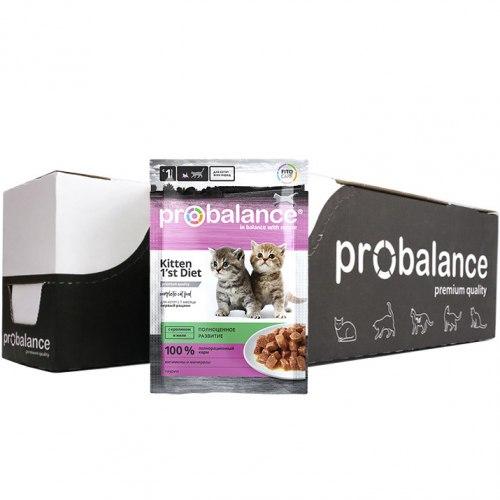 Влажный корм ProBalance 1'st Diet корм д/котят c кроликом в желе (пауч), 25шт*85г