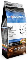 Сухой корм ProBalance Adult Light корм для взрослых собак всех пород