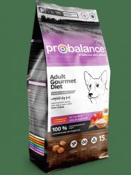 Сухой корм ProBalance Gourmet diet Adult Корм сухой для взрослых собак с говядиной и ягнёнком 15 кг
