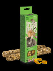 Палочки Little One для морских свинок, кроликов и шиншилл с луговыми травами, 2х55 г.