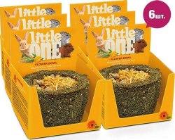 Лакомство-игрушка Little One Лукошко цветочное,для всех видов грызунов , 120г