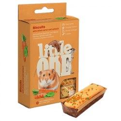 Бисвиты Little One с морковью для хомяков,крыс,мышей и песчанок, коробка 5*7г