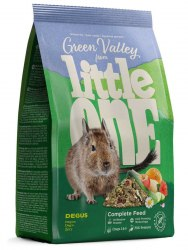 Корм Little One Зеленая долина, из разнотравья для дегу , пакет 750 г