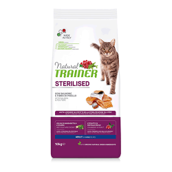 Сухой корм TRAINER для стерилизованных кошек и кастрированных котов с лососем 10 кг
