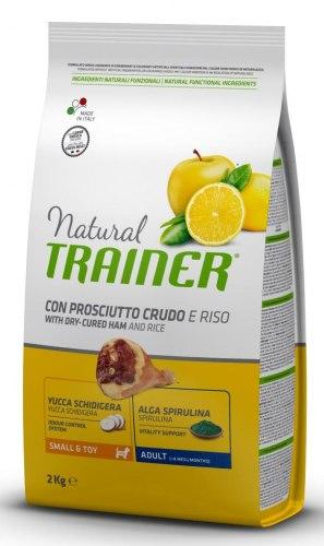 Сухой корм TRAINER для собак мелких и миниат пород с сыровялен ветчиной, рисом и маточным молочком 2 кг