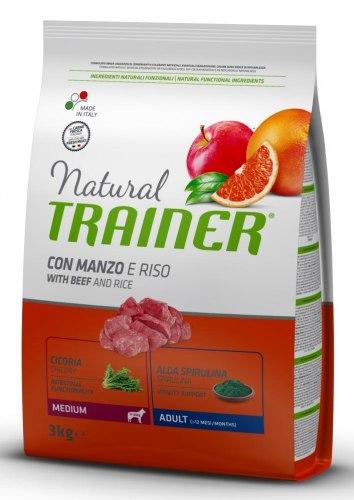 Сухой корм TRAINER для собак средних пород с говядиной и рисом 3 кг