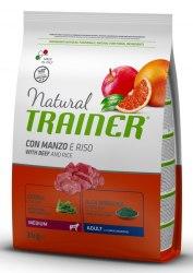 Сухой корм TRAINER для собак средних пород с говядиной и рисом 12 кг