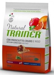 Сухой корм TRAINER для собак средних пород с сыровялен ветчиной, рисом и маточным молочком 12 кг