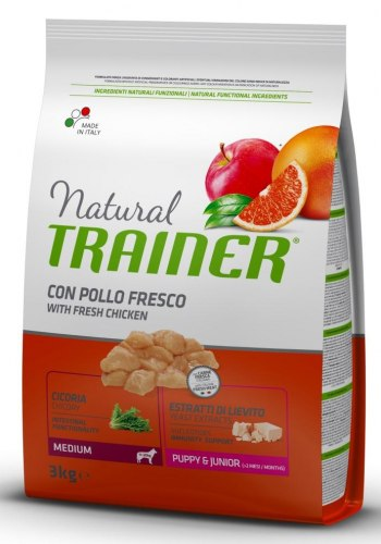 Сухой корм TRAINER для щенков средних пород 12 кг