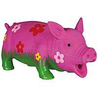 Игрушка TRIXIE из латекса, для собаки Свинка, со звуком, 10 см, разноцветная