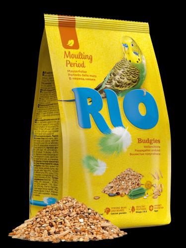 Корм RIO для волнистых попугайчиков, линька, 1 кг.
