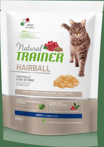 Сухой корм TRAINER для кошек с эффектом выведения шерсти, курица 1,5 кг