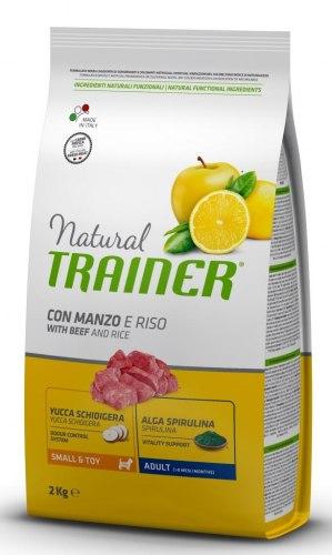 Сухой корм TRAINER для собак мелких и миниатюрных пород с говядиной и рисом 0,8 кг