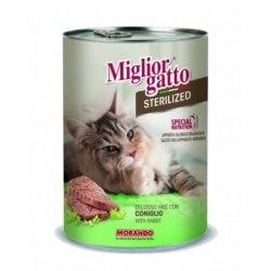 Паштет Miglior Gatto для стерилизованных кошек с кроликом, 400г