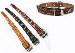 Ошейник Collar кожаный, безразмерный, подшитый, ширина 17мм, обхват шеи до 40 см