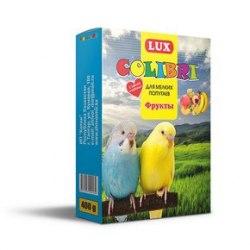 Корм Lux Colibri для мелких попугаев с фруктами, 400г