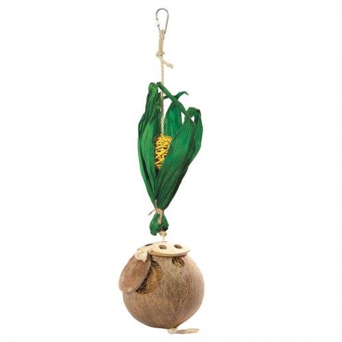 "Домик Triol NATURAL для птиц из кокоса ""Чудо-кокос"", 425/455*d110мм"