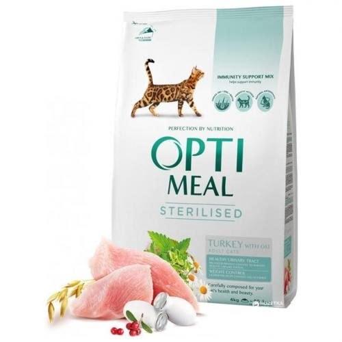 Сухой корм Optimeal для стерилизованных кошек - индейка и овес, НА РАЗВЕС 100г