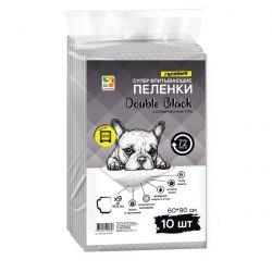 Пеленки FOUR PETS Double Black для собак с углем 60х90см., упаковка 10 шт
