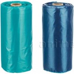 Одноразовые пакеты TRIXIE для уборки за собаками, с ручками, 8 рулонов по 15 пакетов