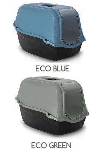 Туалет-бокс Bergamo Romeo ECO BLUE с фильтром и дверью для животных, 57х39х41 см