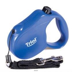 Поводок-рулетка Triol Fusion S, 5м до 12кг, трос (новый механизм)