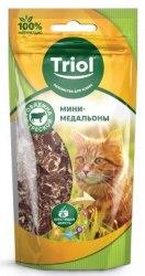 Мини-медальоны Triol из говядины с треской для кошек, 40г