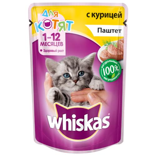 Паштет Whiskas для котят, курица, 85г