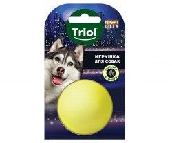 Игрушка Triol Night City, для собак из винила Мяч-неон, диам.50мм