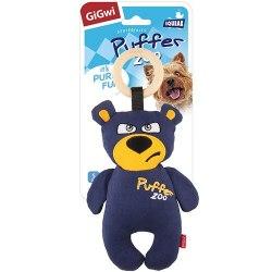 """Игрушка GiGwi для собак PUFFER ZOO """"Медведь с пищалкой"""" 26 см."""
