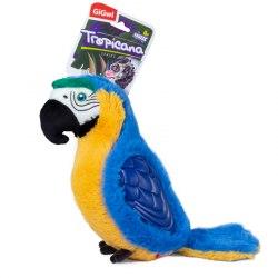"""Игрушка GiGwi для собак TROPICANA SERIES """"Попугай с пищалкой большой"""", 38 см."""
