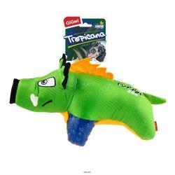 "Игрушка GiGwi для собак TROPICANA SERIES ""Кабан с пищалкой"" 28 см."