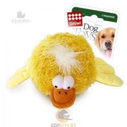 """Игрушка GiGwi для собак """"Утка"""" с пищалкой , 12 см"""