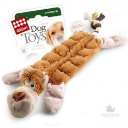 """Игрушка GiGwi для собак """"Обезьяна"""", с 19-ю пищалками, плюш, 34 см."""