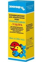 """Аквапрепарат Зоомир """"Трипафлавин-ультра"""" для лечения рыб50мл"""