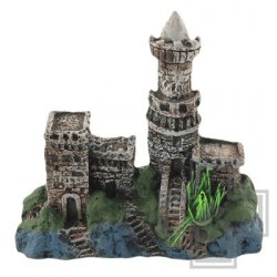 Грот Laguna Замок с лесенкой, 180*50*160 мм