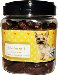 Лакомство O dog Колбаски для собак мини пород, утка (1шт)