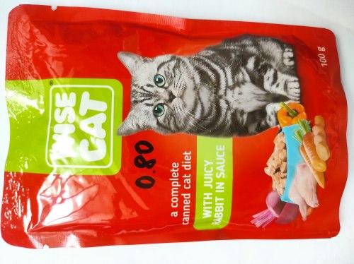 Консерва Wise Cat с кроликом в соусе, 100г