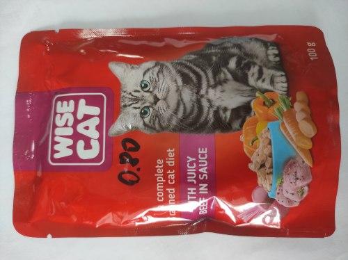 Консерва Wise Cat для кошек, с говядиной в соусе, 100г