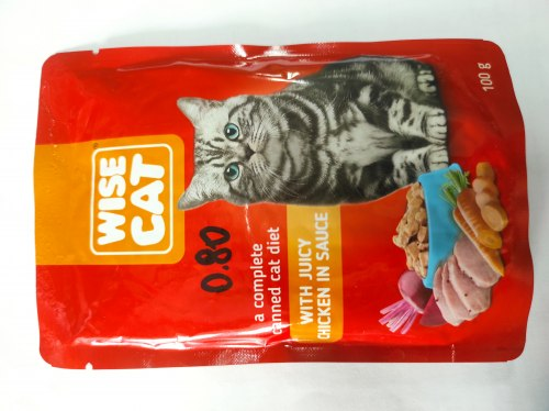 Консерва Wise Cat для кошек, с курицей в соусе, 100г