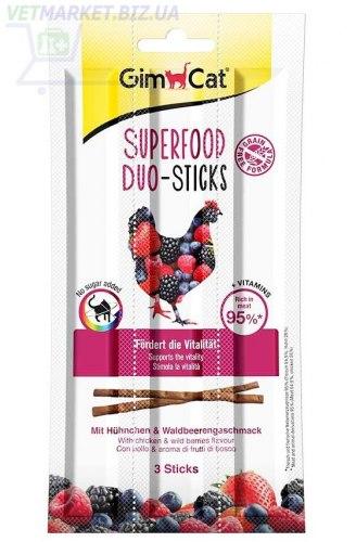 Лакомство GIMCAT палочки Superfood Duo-Sticks с курицей, 3шт
