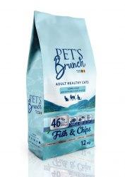 Сухой корм Pet's Brunch для взрослых кошек и котов, имеющих доступ на улицу, 12 кг