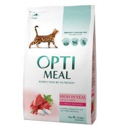 Сухой корм Optimeal для взрослых кошек с телятиной, НА РАЗВЕС 100г