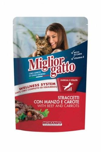 Консерва Miglior Gatto для кошек кусочки в соусе с курицей и индейкой, 100г
