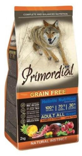 Сухой корм PRIMORDIAL Adult Tuna & Lamb Для взрослых собак всех пород с тунцом и ягненком, 2 кг