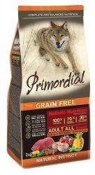 Сухой корм PRIMORDIAL Adult Buffalo & Mackerel Для взрослых собак всех пород с буйволом и скумбрией, 12 кг