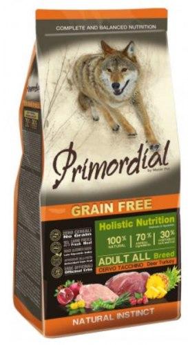 Сухой корм PRIMORDIAL Adult Deer & Turkey Для взрослых собак всех пород с олениной и индейкой, 12 кг