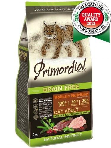 Сухой корм PRIMORDIAL Adult Duck & Turkey Для взрослых кошек с уткой и индейкой, 6кг