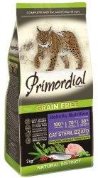 Сухой корм PRIMORDIAL Neutered Turkey & Herring Для взрослых стерилизованных кошек с индейкой и сельдью, 2 кг