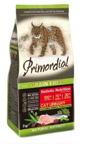 Сухой корм PRIMORDIAL Urinary Turkey & Herring Для взрослых кошек с индейкой и сельдью - профилактика мочекаменной болезни, 2 кг